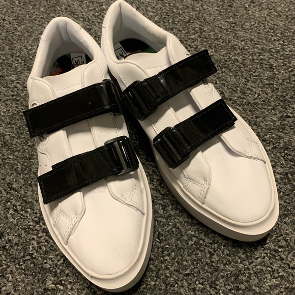 Adidas Sleek Super Shoes — Velcro, Black and White